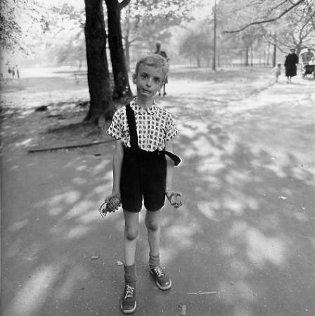 Child with Toy Hand Grenade in Central Park by Diane Arbus, 1962